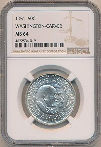 1951 P Half Dollar Washington Carver MS64 NGC ()