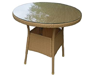 Balkontisch rund  Amazon.de: Gartentisch Balkontisch rund, Rattantisch ...