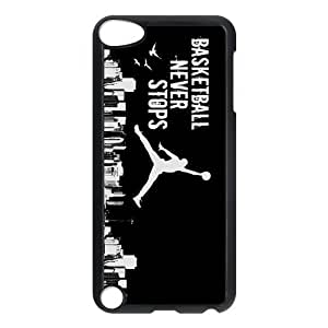 Design Case Cute Basketball Jumping Man Background Print on Hard Plastic Back Case Cover Ipod touch 5 Case Perfect as Christmas gift(4)