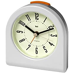 Bai Designer Pick-Me-Up Alarm Clock, White