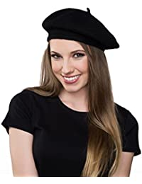 6fbe7188fc932 Wool Black Beret Hat - French Beret