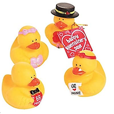 Valentine Rubber Duckies - set of 12: Health & Personal Care