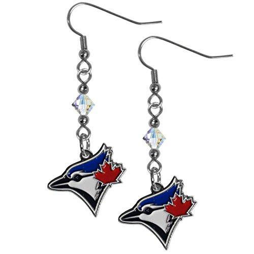 (Siskiyou MLB Toronto Blue Jays Crystal Dangle Earrings)