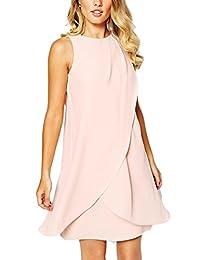 Women's Elegant Sleeveless Surplice Party Dress With Bowknot