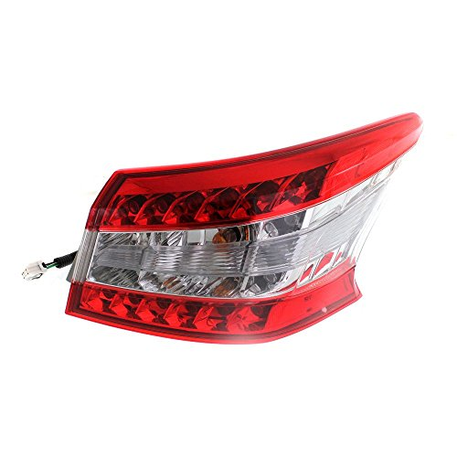 Evan-Fischer EVA156112613100 Tail Light for Nissan Sentra 13-15 Outer Assembly Right Side