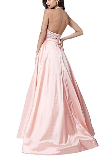 Sherri Hill V-Neck Halter Embroidery Prom Dress With Pockets Evening Party Gowns at Amazon Womens Clothing store: