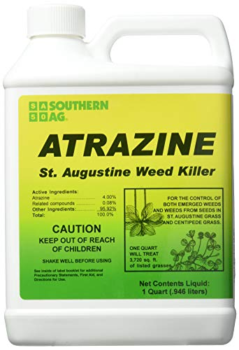 Southern Ag 006130 Atrazine St. Augustine Weed Killer 32oz Specialty Herbicide (Weed And Feed For St Augustine Grass)