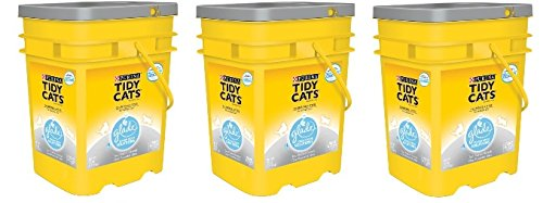 (Purina Tidy Cats Glade Tough Odor Solutions Clear Springs Clumping Cat Litter, 35 lb - 3 Pails)