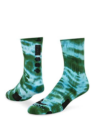Red Lion Maxim Tie Dye Athletic Socks ( Kelly Green / White - Medium ) ()