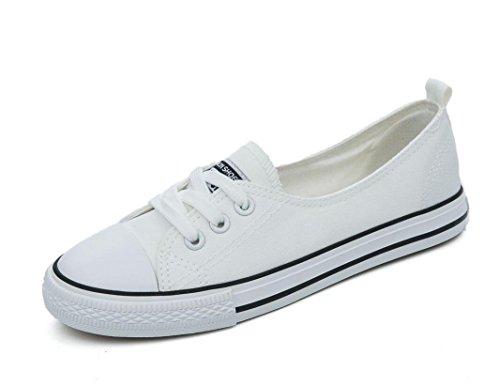 Estudiantes Verano WHITE Zapatos Señora Lona Compras Movimiento Zapatos Ocio 38 Permeabilidad Colores 38 Escuela de Cuatro Sencillo XIE de vz5xBTqT
