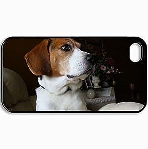 Fashion Unique Design Protective Cellphone Back Cover Case For iPhone 4 4S Case Beagle Shiloh Black