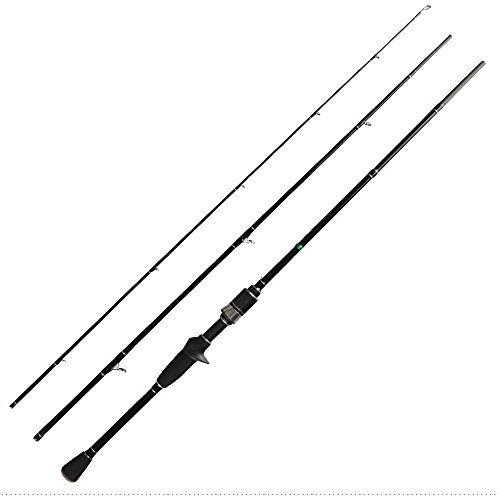 JOHNCOO Carbon Fishing Rod 703L 3-Piece Casting Rod or Spinning Rod Lure Weight 2-10 Grams Fast Action Light Power Rod (Casting)