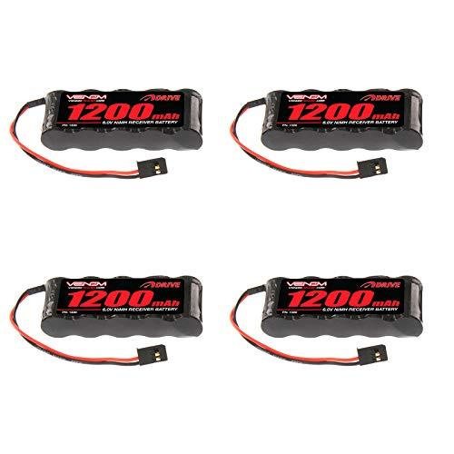 - Venom 6v 1200mAh 5-Cell Flat Receiver NiMH Battery x4 Packs
