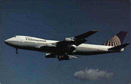 Continental Airlines, Boeing B-747-243B N33021 MSN 20520 London, England Original Vintage Postcard (Continental 747)