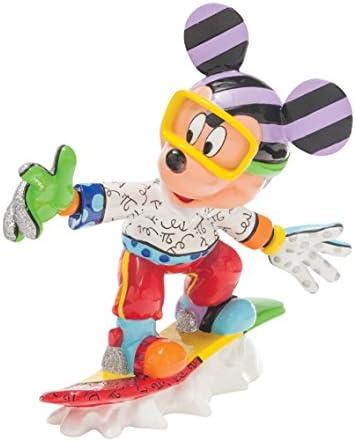 Enesco Disney by Britto Snowboarding Mickey Figurine, 8.125-Inch