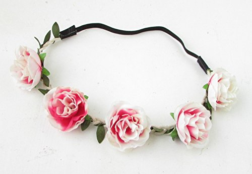 Rose Blush Rose Fleur Bandeau cheveux Couronne Festival Boho Guirlande élastique 848* * * * * * * * exclusivement vendu par–Beauté * * * * * * * *