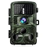 "TOGUARD Trail Camera 14MP 1080P Night Vision Game Camera Motion Activated Wildlife Hunting Cam 120° Detection 0.3s Trigger Speed 2.4"" LCD Display IP56 Waterproof"