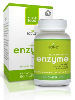 Activz - Whole Food Plant-Based Enzyme Blend - 90 Vegetarian Capsules