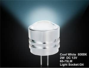 G4-4D-2W-12V G4 2W Cold White LED Spot Bulb