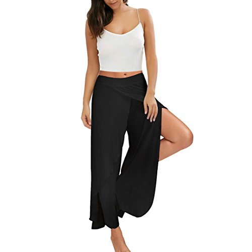 CRYYU Women Off The Shoulder Casual Wide Leg Long Pants Printed Jumpsuit Romper