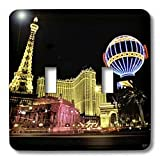 3dRose lsp_37789_2 Paris Hotel and Casin at Las Vegas Strip United States Double Toggle Switch
