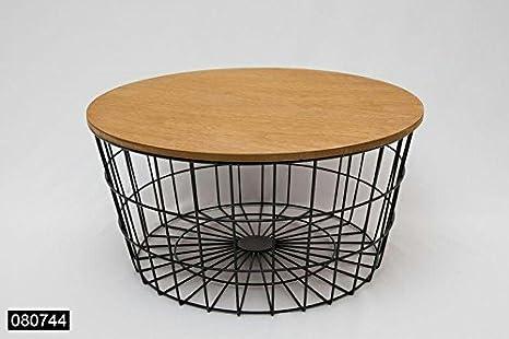 Moderner Stylischer Beistelltisch Couchtisch Metall Holz