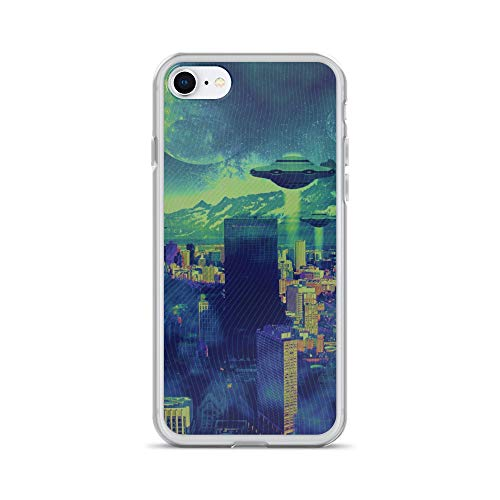 iPhone 7/8 Case Anti-Scratch Phantasy Imagination Transparent Cases Cover Space Invaders Fantasy Dream Crystal Clear