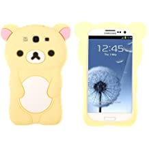 Evergreat Technology rilakkuma Bear 3d TPU Soft Silicone Case Cover for Samsung Galaxy S3 I9300