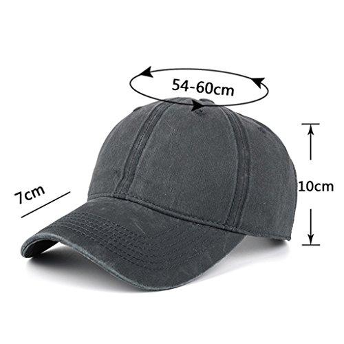 5da356224 AKIZON Plain Hats Blank Solid Color Baseball Dad Cap Cotton For Men ...