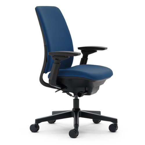 (Steelcase Amia Chair, Blue Fabric)