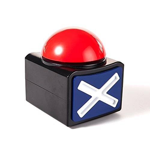 Mealivos XL Buzzer Alarm Button with Sound and Light Trivia Quiz Game - Game Show Buzzer