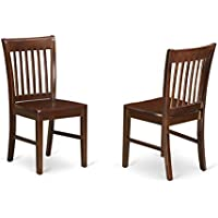 East West Furniture NFC-MAH-W Kitchen/Dining Chair Set...