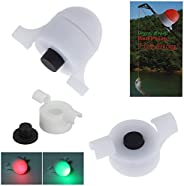 Moontie Fish Bite Indicator, 3/10Pcs LED Night Fishing Strike Alert Bell Jingle Bell Fisher Adapter Light for