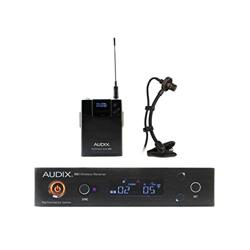 Ardix AP61 SAX R61 True Diversity Receiver, B60 Bodypack with ADX20i Clip on Condenser Microphone by AVBcable.com