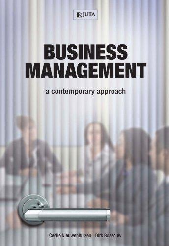 Business Management: A Contemporary Approach