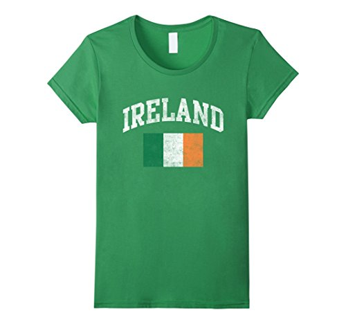 Vintage Ireland Irish Flag Green St. Patrick's Day T-Shirt