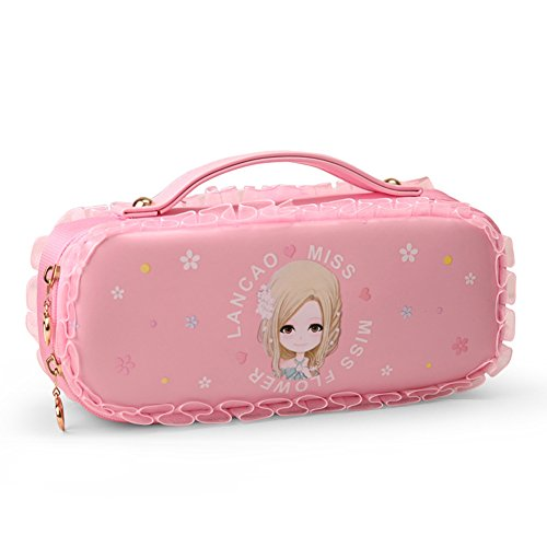 2907e4d084 Galleon - Tusong Large Capacity PU Pen Pencil Case Stationery Pouch Bag  Case Cosmetic Bags