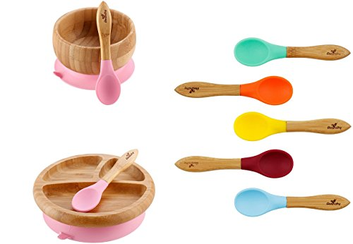 Rainbow Gift Set Pink – Baby Shower, Baby Registry, Home Set More. Baby Girl, Baby Boy, Unisex. Baby Bowl Set Baby Plate Set Assorted Baby Spoons Set. FDA Approved BPA Free