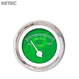 Aurora Instruments GAR284ZMXLABCD Ghost Flame Green Water Temperature Gauge