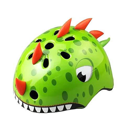 TITST Kids Helmet, Age 2-13 Years Old, Cute Cartoon Animal 3D Dinosaur Helmets, Adjustable Youth Boys Girls Multi-Sport…