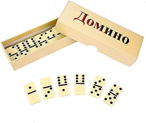 28Pcs Juego de Juguetes de dominó de Madera, Juego de Juguetes de ...