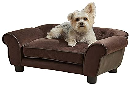 High Quality Enchanted Home Pet Ultra Plush Cleo Pet Sofa In Brown