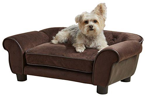 Enchanted Home Pet Ultra Plush Cleo Pet Sofa In Brown by Enchanted Home Pet