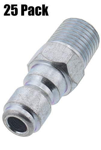 Erie Tools 25 Pressure Washer 1/4 Male NPT to Quick Connect Plug Zinc Plated Coupler, High Temp, 4000 PSI, 10.5 GPM by Erie Tools