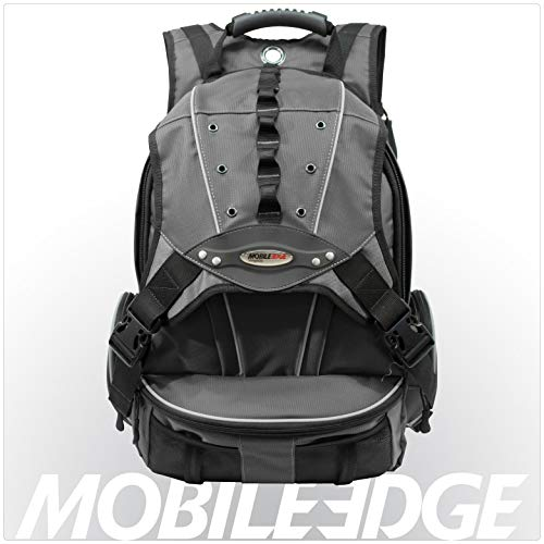 - Mobile Edge Graphite Series Premium Laptop Backpack 16 Inch PC and 17 Inch Mac, Cool-Mesh Ventilated Back Panel for Superior Comfort, Premium Exterior Material, Graphite,  for Men, Women, Business, Students MEGBPP