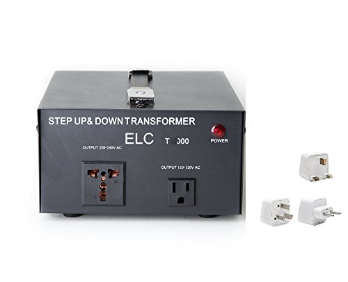 2000 Watt Best International Power Voltage Converter Transformer - Step Up/Down - 110V/220V - with Worldwide UK/US/AU/EU European Plug Adapter - 2 Outlets (Voltage Transformer Uk)