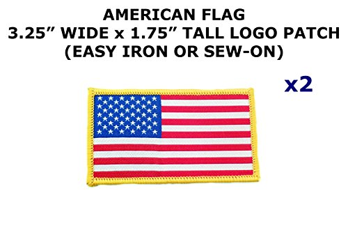2 PCS American Flag Tactical Theme DIY Iron / Sew-on Decorative Applique - Diy American Flag