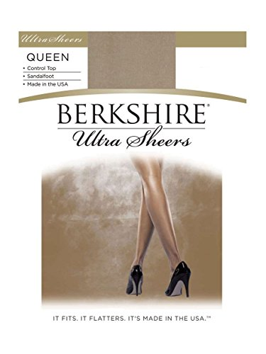 Berkshire Women's Plus-Size Queen Size Ultra Sheer Pantyhose - 4411, Nude, Queen Petite by Berkshire