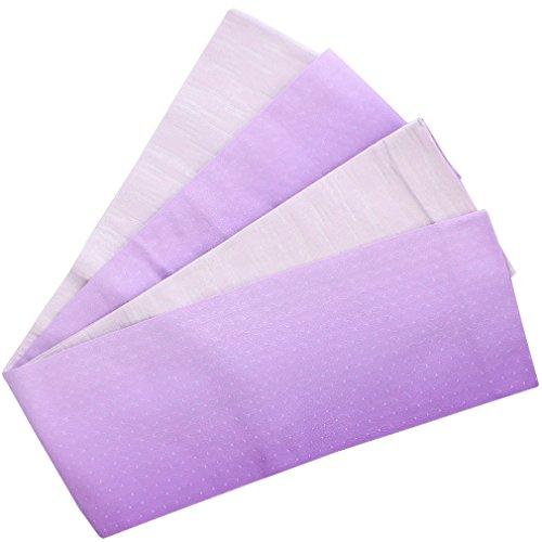 ホイッスルどっちでも虐待(キステ) Kisste 半幅帯 浴衣?普段用 ポリエステル100% 細帯 リバーシブル 小袋帯 <紫×薄紫/ぼかし麻の葉> 5-8-03650