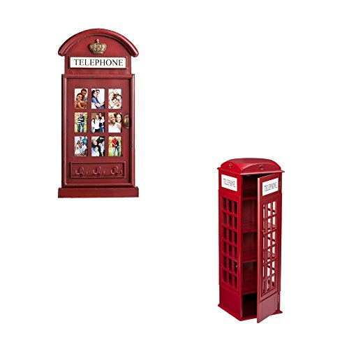 Phone Booth Storage Cabinet and Darby Phone Booth Wall Mount Photo Frame